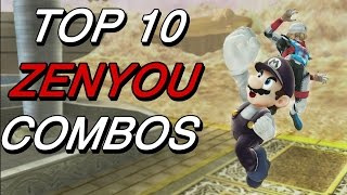 Top 10 Zenyou Combos (Smash 4)