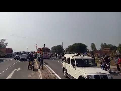 श्री दादा श्रीनिवास तिवारी के निधन की अंतिम यात्रा।