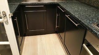 Dulux Black Stillness 30% sheen  - Kitchen cupboards, paint spraying, painting