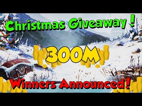300M Christmas Giveaway Winners! [Runescape 3] & Christmas Q&A Soon!