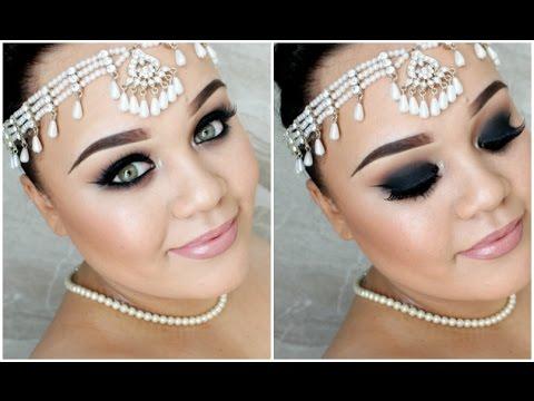 Indian Bridal Makeup | Black Smokey Eyes & Nude Lips | Makeupwithjah video