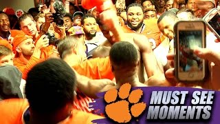 Download Dabo Swinney Dances With Clemson Players In Locker Room Following FSU Win 3Gp Mp4