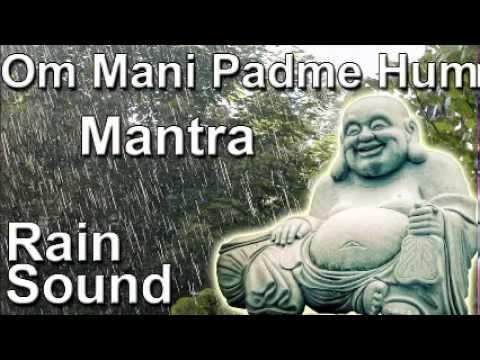 Om mani padme hum mantra 8hour full night meditation with rain...