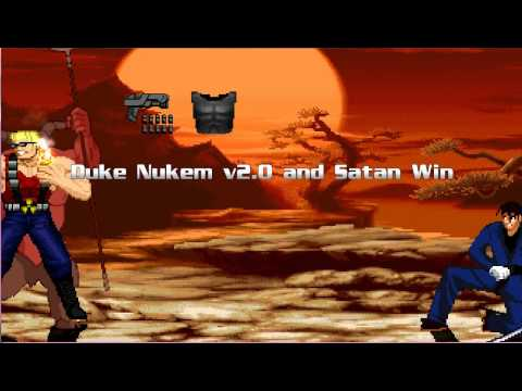 Mugen Survival Co op Satan and Duke Nukem 2.0