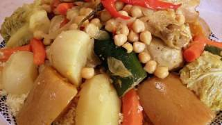 Couscous with Vegetables Recipe - video with my Grandmother - CookingWithAlia - Episode 99