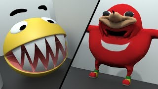 Pacman vs Uganda Knuckles vs Mario and Sonic