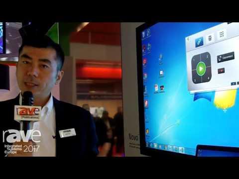 ISE 2017: Vivitek Demos NovoTouch Collaborative Touch Panel Display, Part of the NovoConnect Family