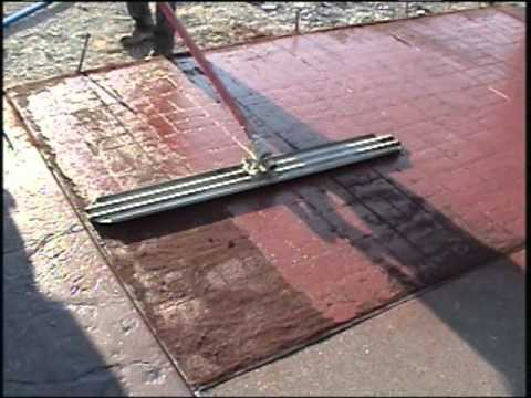 How To Stencil Concrete Youtube