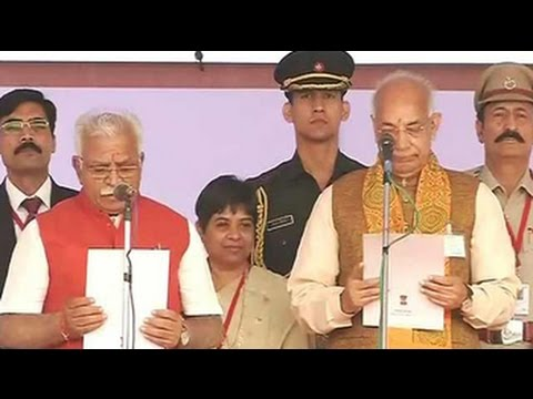 ML Khattar takes oath as Haryana Chief Minister, PM present for swearing-in