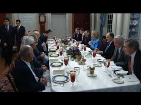 Hillary Hosts Afghan President For Dinner