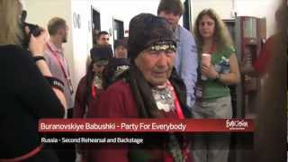 Buranovskiye Babushki - Party For Everybody (Russia) 2nd Rehearsal and Backstage
