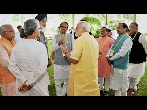 Land Bill : PM Modi meets states CM to end deadlock