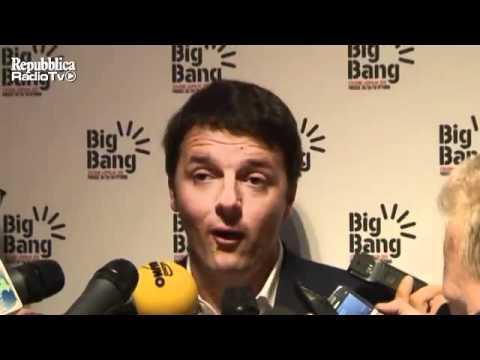 Matteo Renzi, con Davide Faraone presenta il Big Bang