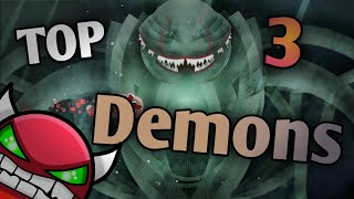 [2020] Top 3 LEGENDARY Demons | Geometry Dash