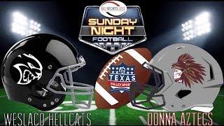 Texas Valley Sports Football Weslaco Hellcats vs Donna Aztecs
