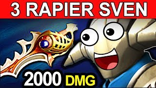RAPIER SVEN DOTA 2 PATCH 7.06 NEW META PRO GAMEPLAY
