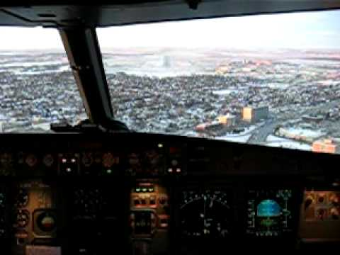 Landing in Winnipeg, Mb, Canada - Air Canada - Airbus A319 - FLIGHT DECK!!!