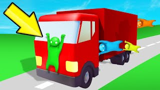 HANG On To The DRIVING TRUCK Or LOSE! (Gang Beasts)