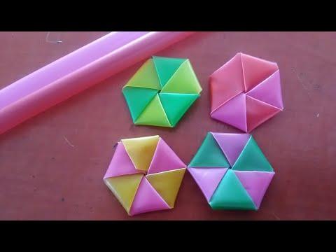 How To Make Plastic Straw Star By Ria Nofaliana