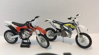 Maisto Husqvarna FE 501 Two Stroke 1:12 Toy Dirt Bike Unboxing +Dirt Bike Collection Update