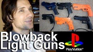 PS2\PS1 Light Guns w\ Kickback SD vs HDTV