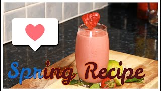 Spring Break Smoothie Recipe Healthy & Easy Smoothie | Strawberry Ripe Banana #SpringBreak !!