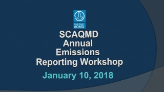 SCAQMD AER Workshop - January 10, 2018
