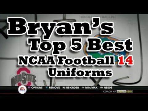 Best Uniforms in NCAA Football 14