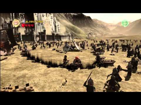 Lego Lord of the Rings: Level 16/The Battle Of Pelennor Fields - FREE PLAY - All Collectables - HTG
