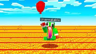 USING A BALLOON TO SURVIVE IN MINECRAFT!