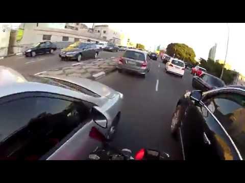 Безбашенный байкер в Бразилии(авторегистратор)