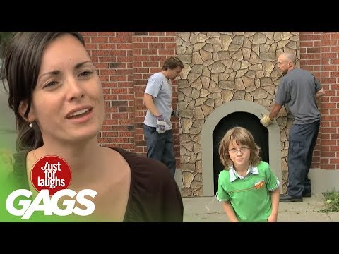 Kid Disappears In Brick Wall Prank - Just For Laughs Gags thumbnail