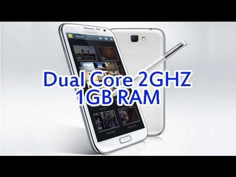 HDC Galaxy note 2 clone KING 2G dual core 1G RAM Hands On bench mark reviews