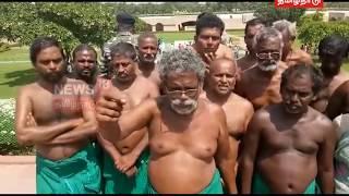 டெல்லி காந்தி சமாதியில் தமிழக விவசாயிகள் வேண்டுதல்