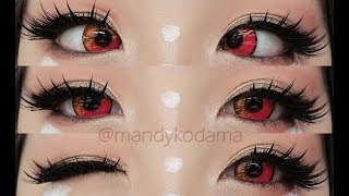 REVIEW: Circle Lenses - Sweety Anime Pink (Sponsored by Uniqso) on dark eyes