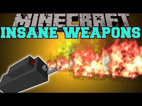 Minecraft: INSANE WEAPONS (FLAME THROWER, LASER GUN, ROCKET LAUNCHER) Mod Showcase