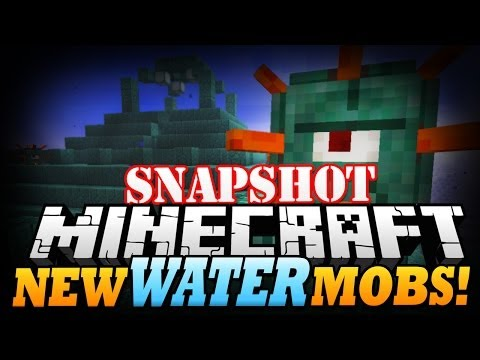 Minecraft Snapshot NEW WATER MOBS Guardians Minecraft 1.8 Update