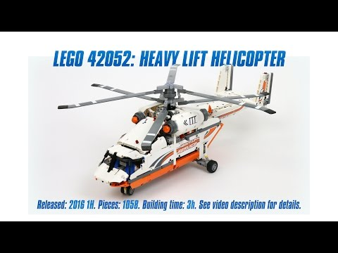 'Lego Technic 42052: Heavy Lift Helicopter' Unboxing. Parts List. Speed Build & Review