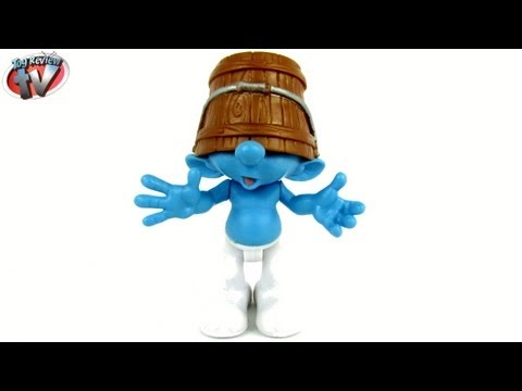 The Smurfs 2 Movie Grab Ems Clumsy Action Figure Toy Review, Jakks Pacific