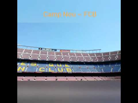 Inside Camp Nou, Barcelona