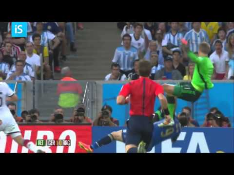 Manuel Peter Neuer SuperMan Kick at FIFA 2014 Worldcup GERMANY 1 : 0 ARGENTINA