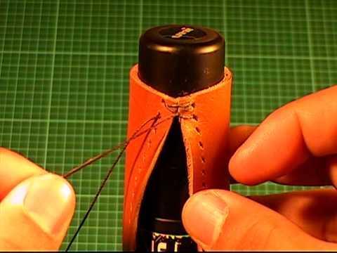 【革の縫い方っ!4】:『クロス・ステッチ-①(cross‐stitch-1)』 レザークラフト動画<011>