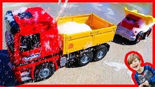 Bruder Dump Trucks For Kids at the Truck Wash