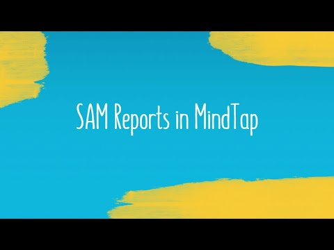 SAM Reports in MindTap