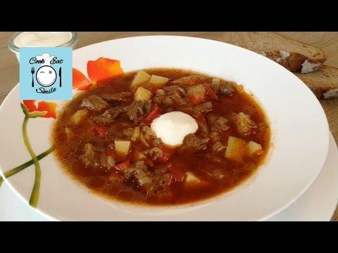 Очень вкусный суп-гуляш. Суп гуляш из говядины.