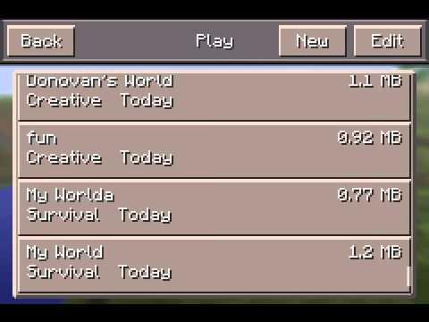 Minecraft PE cheat unlimited items( 0.10.0 update)