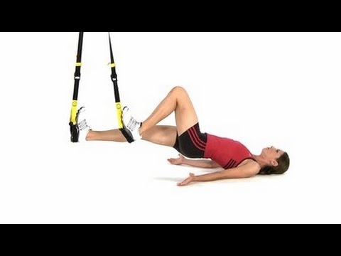 TRX Workout - TRX Exercises, TRX Hamstring Curl - YouTube