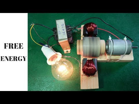 how to made free energy generator using magnets transformer output 220 volt new project thumbnail
