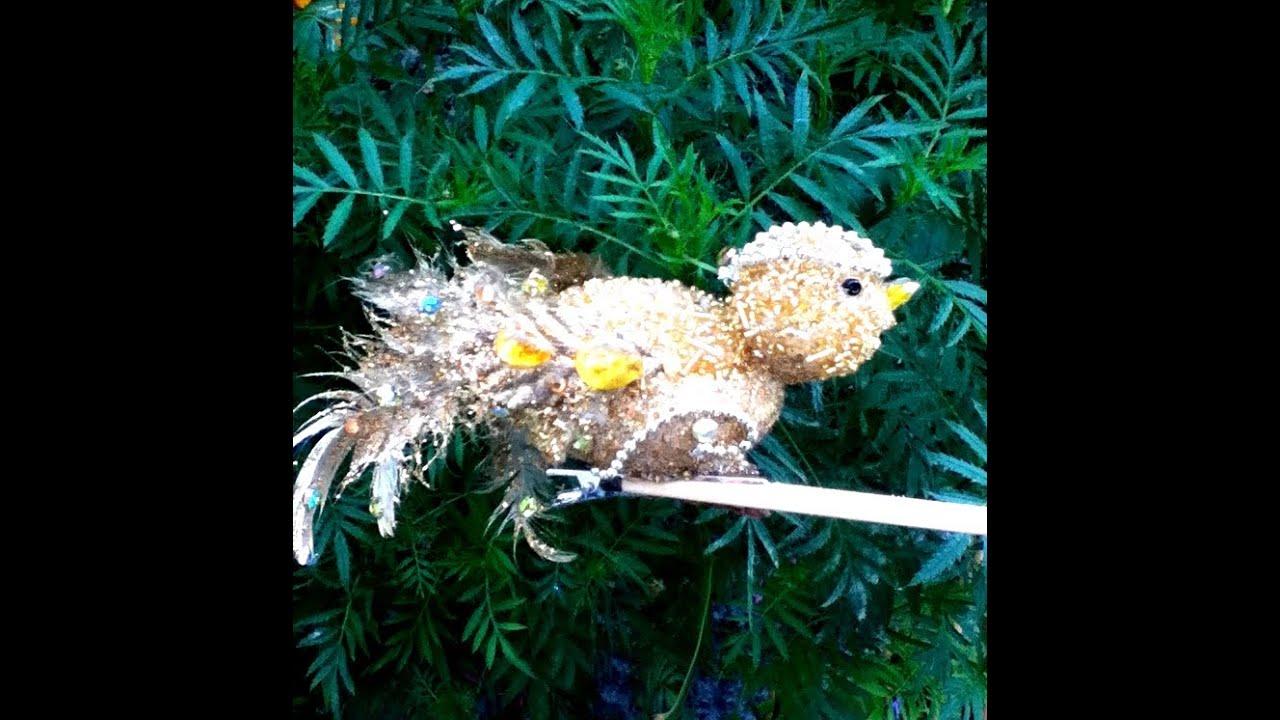 Diy p jaro para decorar rbol de navidad elegante bird - Arboles de navidad elegantes ...
