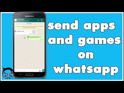 How to send apps and Games on whatsapp TRICK 2017